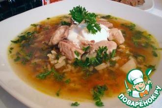 Рецепт: Рыбный суп с соевым соусом