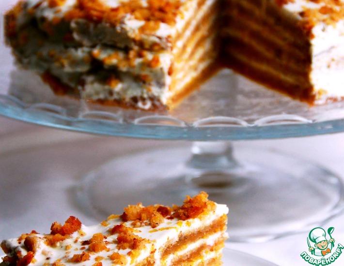 Рецепт: Торт тыквенно-апельсиновый