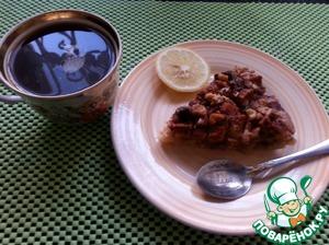 Аккуратно вынимаем пирог из формы, корж очень нежный. Делаем вкусный чай или кофе и наслаждаемся кусочком пирога..