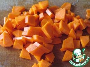 Морковь четвертинками