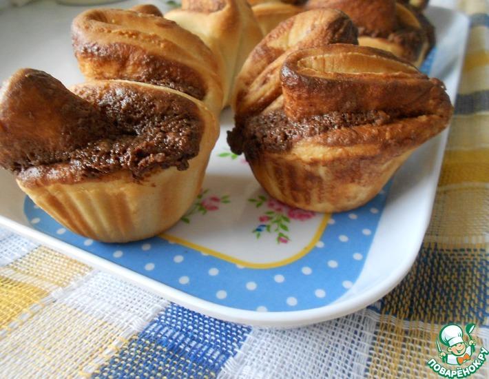 Рецепт: Шоколадные булочки