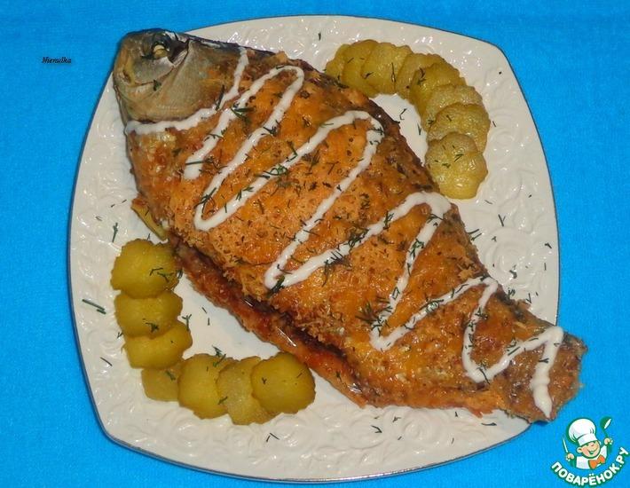 Рецепт: Карась с базиликом и картофелем