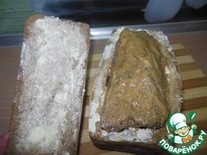 Выкладываем наше мясо в хлеб.