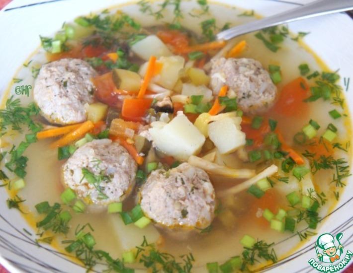Рецепт: Рассольник Комаринский с фрикадельками
