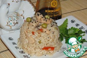 Рецепт: Рис с курицей в соевом соусе