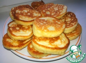 Pancakes on kefir