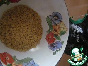 2. The lentils boil until tender