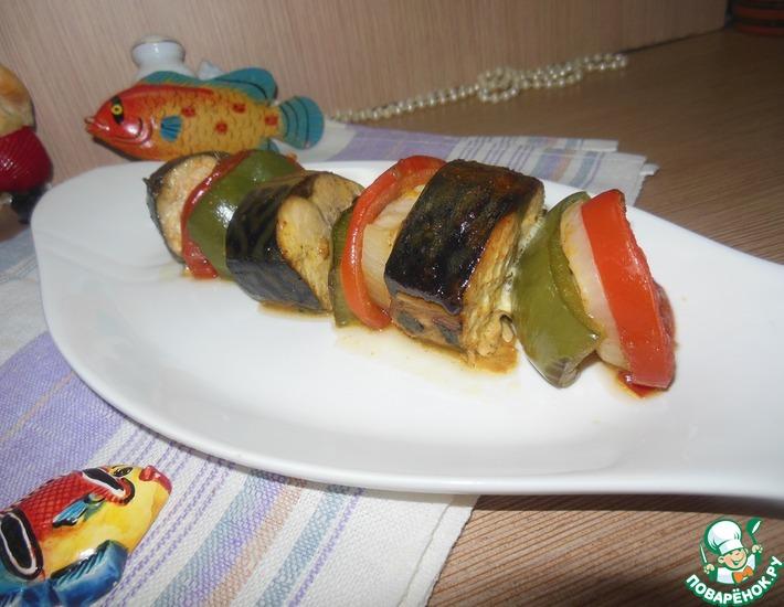 Рецепт: Скумбрия с овощами