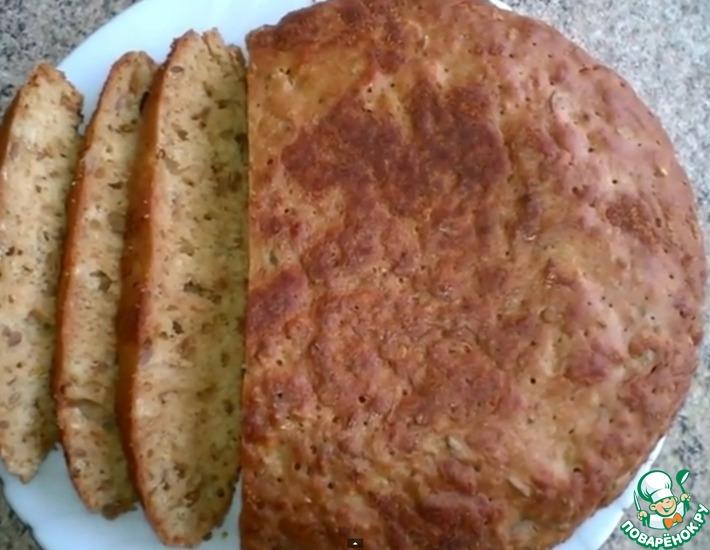 Рецепт: Бездрожжевой хлеб в мультиварке