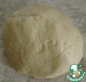 Замешиваем тесто, заворачиваем его в полиэтилен и отправляем в холодильник на 30-40 мин.