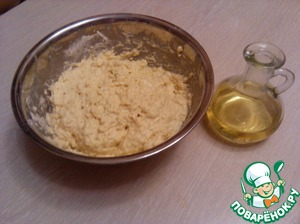 Now add the butter, knead the dough and allow it to come up 1 time