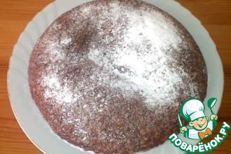 Рецепт: Постный овсяной пирог с яблоками в мультиварке