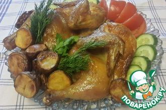 Рецепт: Курица в маринаде Жженый чай