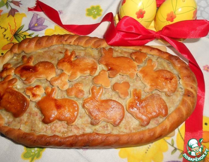 Рецепт: Картофельно-мясной пирог к Пасхе