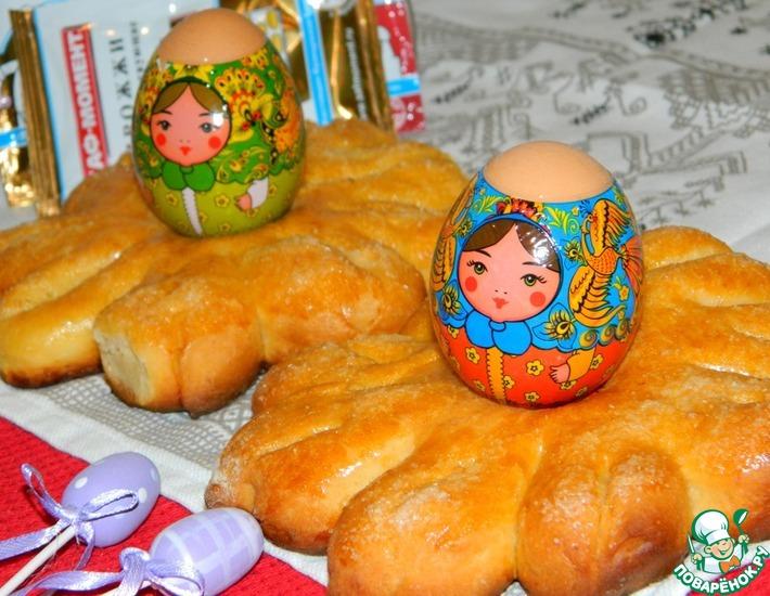 Рецепт: Цветы-подставки под яйца