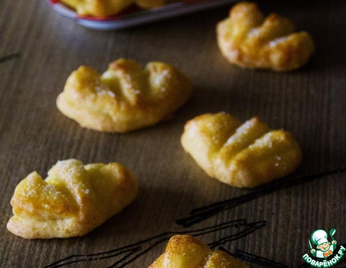 Рецепт: Творожное печенье Гусиные лапки