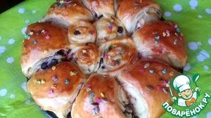 Рецепт Пасхальная слоёная булочка с мармеладом