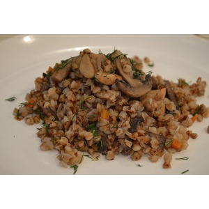 Гречневая каша с мясом и грибами