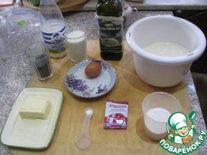 Необходимые продукты для приготовления теста и начинки.