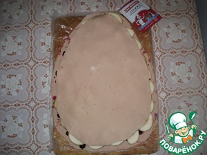 Close the second layer of dough