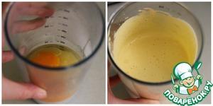 В отдельную посуду высыпаем сахар и яйца, все взбиваем, чтобы масса увеличилась в несколько раз.