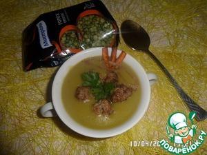 Подаем наш суп с фрикадельками и зеленью. Приятного аппетита!