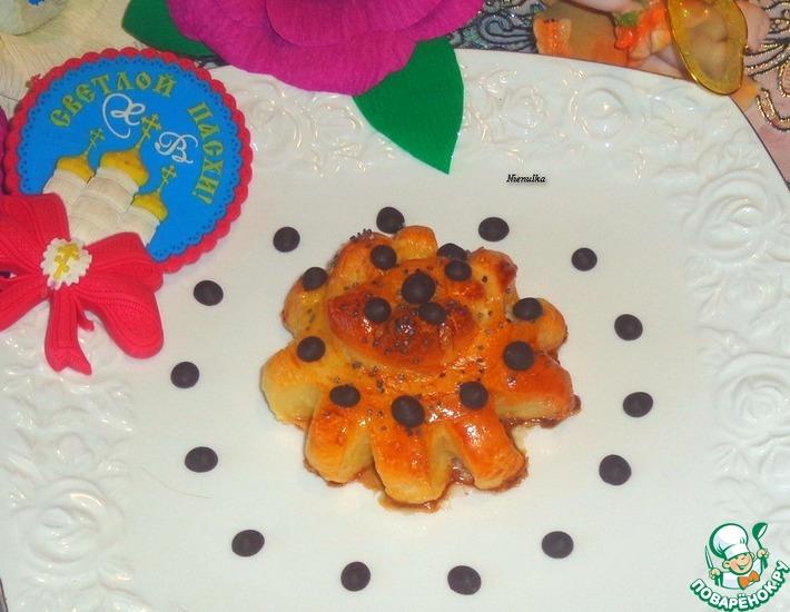 Рецепт: Медовые булочки Цветочки