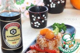 Рецепт: Азиатская свинина с перцем и мандаринами