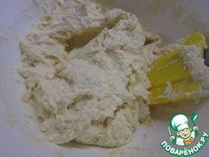 Творожный сыр+яйцо+ манка+соль+сахар+мук а+сливочное  масло=замесить творожное тесто