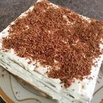 Торт творожный из мацы