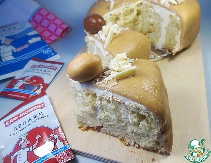 Рецепт: Пасхальный пирог с шоколадным ирисом