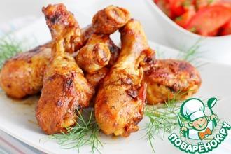 Рецепт: Курица в луковом маринаде