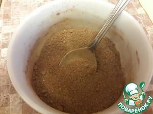 Для посыпки смешиваеи сахар, какао и ванилин