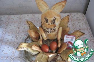 Рецепт: Пасхальный заяц с маком и грецкими орехами