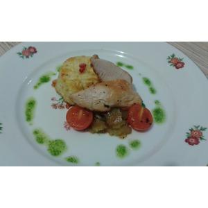 Куриная грудка с гратеном из цветной капусты