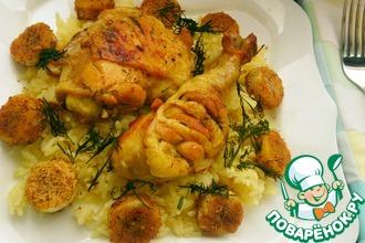 Рецепт: Курица с рисом и бананами