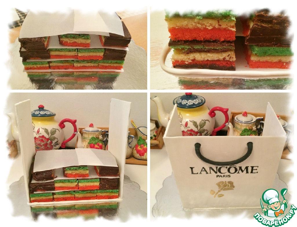 """Печенье-торт """"Подарок"""""""