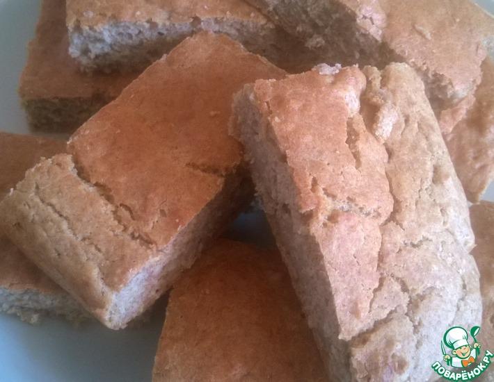 Рецепт: Цельнозерновая хлебная лепешка без дрожжей