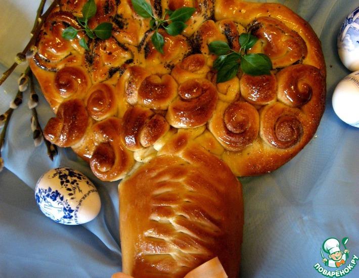Рецепт: Пасхальный хлеб Цветущее дерево