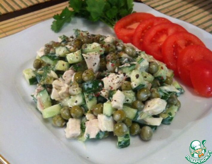 Рецепт: Салат а-ля Оливье