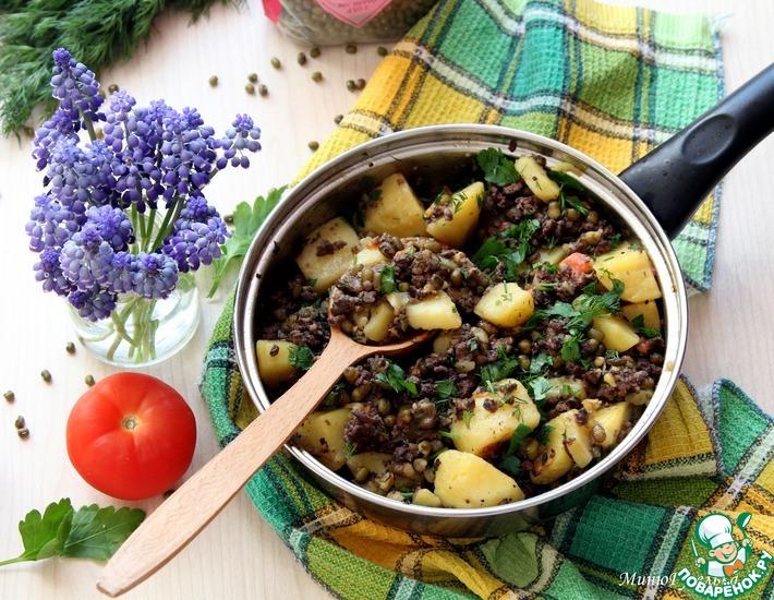 Рецепт: Маш с картофелем и потрошками