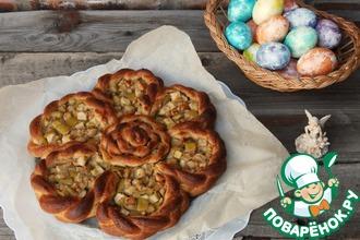 Рецепт: Яблочный пирог с жареным арахисом