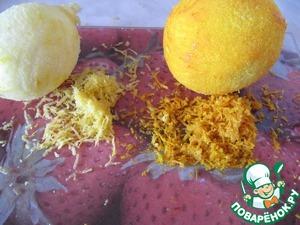 Натереть на терке цедру апельсина и лимона