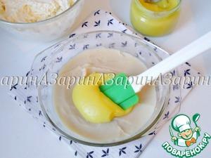 Лимонный курд (в ингредиентах записан, как лимонный сироп) добавить в фасолевое пюре и перемешать до объединения.