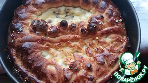 Румяный пасхальный пирог готов! Приятного Аппетита!
