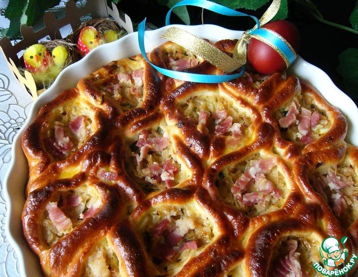 Рецепт: Порционный пирог с капустой