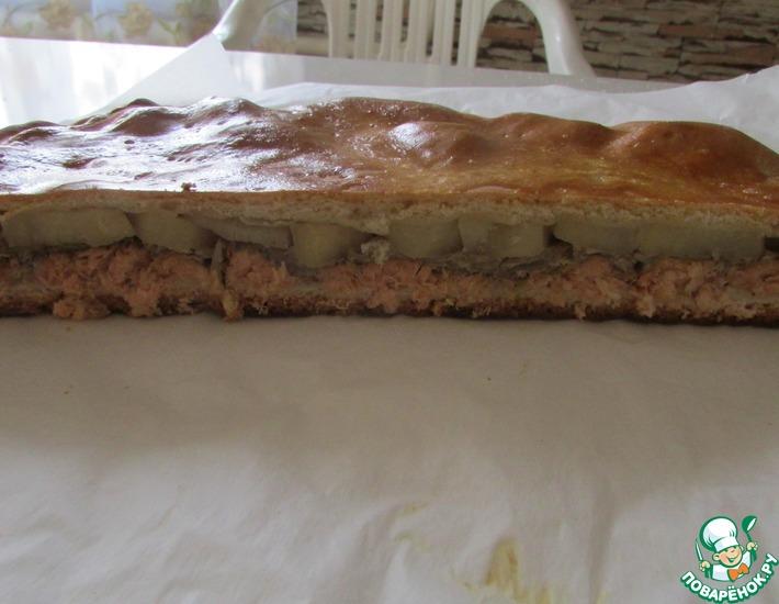 Рецепт: Сибирский рыбный пирог