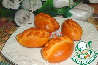 Рецепт: Булочки с грушами и грецкими орехами