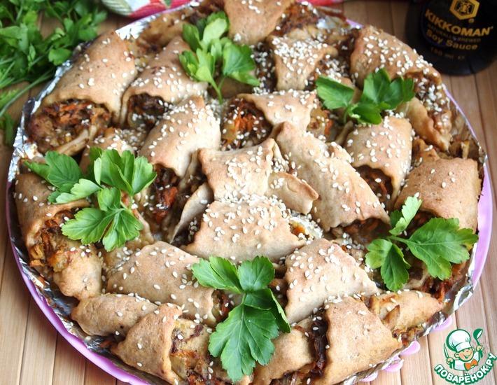 Рецепт: Отрывной рыбный пирог из ржаного теста