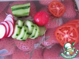 Овощи разрежьте кружочками